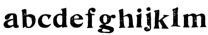FultonMarkersRegular Font LOWERCASE
