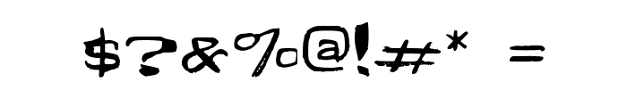 Fun Euro Original Psyched Out Font OTHER CHARS