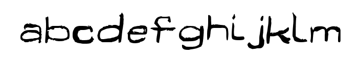 Fun Euro Original Psyched Out Font LOWERCASE