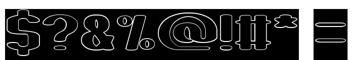 Fun Raiser-Hollow-Inverse Font OTHER CHARS