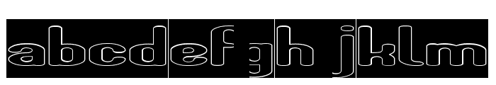 Fun Raiser-Hollow-Inverse Font LOWERCASE