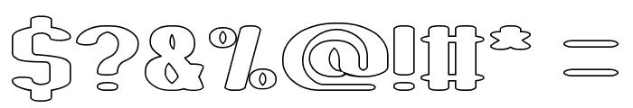 Fun Raiser-Hollow Font OTHER CHARS