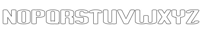 Fun Raiser-Hollow Font UPPERCASE