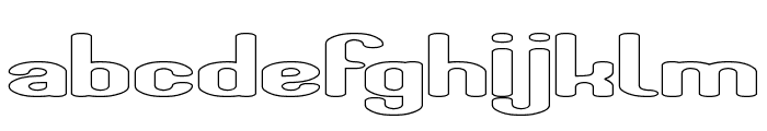 Fun Raiser-Hollow Font LOWERCASE