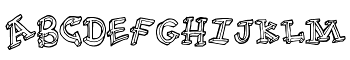FunTime Font UPPERCASE