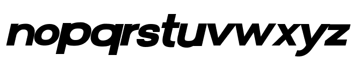 FunZone Two Bold Italic Font LOWERCASE