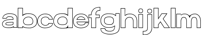 FunZone Two Outline Regular Font LOWERCASE
