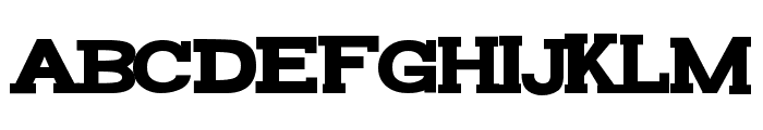 FunZone Two Serif Bold Font UPPERCASE