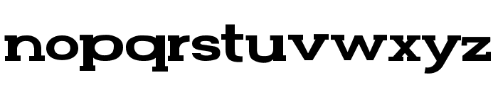FunZone Two Serif Wide Font LOWERCASE