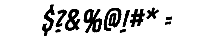 Fundead BB Italic Font OTHER CHARS