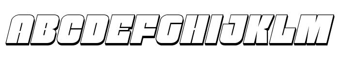 Funk Machine 3D Italic Font LOWERCASE