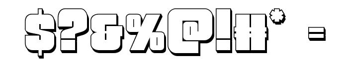 Funk Machine 3D Font OTHER CHARS