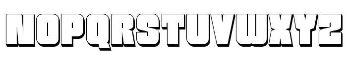 Funk Machine 3D Font UPPERCASE