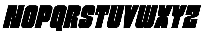 Funk Machine Condensed Italic Font UPPERCASE