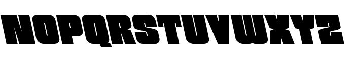 Funk Machine Leftalic Font LOWERCASE
