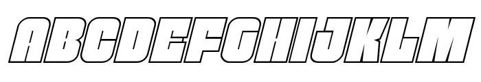 Funk Machine Outline Italic Font UPPERCASE
