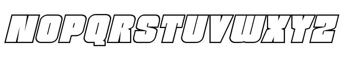Funk Machine Outline Italic Font LOWERCASE