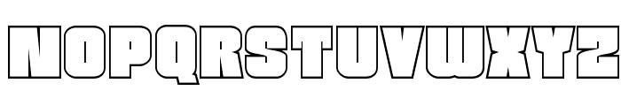 Funk Machine Outline Font LOWERCASE