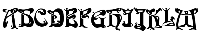 Funk Regular Font UPPERCASE