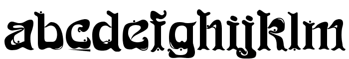 Funk Regular Font LOWERCASE