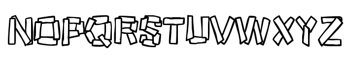 Funky Stoneage Font UPPERCASE