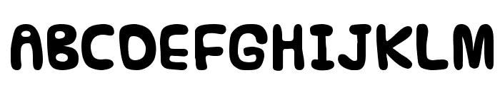 Funnier Font UPPERCASE