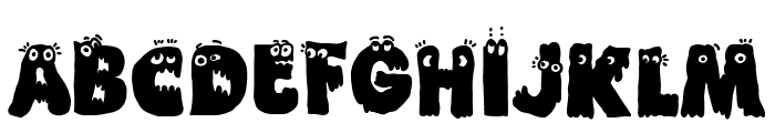 Funny Death Font LOWERCASE