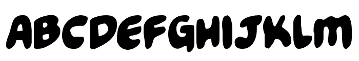 Funny Pages Condensed Font LOWERCASE