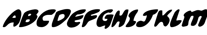 Funny Pages Super-Italic Font UPPERCASE