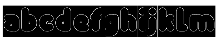 Funny and Cute-Hollow-Inverse Font LOWERCASE