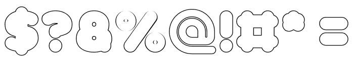 Funny and Cute-Hollow Font OTHER CHARS