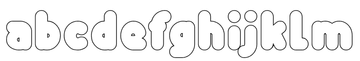 Funny and Cute-Hollow Font LOWERCASE