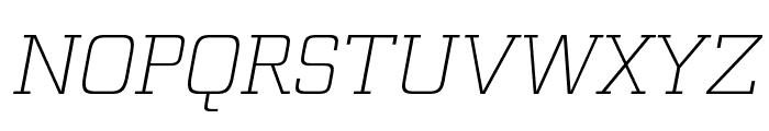 Funtauna Light Oblique Font UPPERCASE