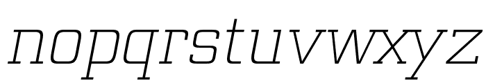 Funtauna Light Oblique Font LOWERCASE