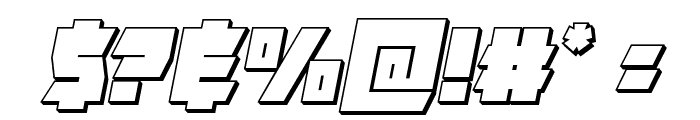 Furiosa 3D Italic Font OTHER CHARS