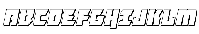 Furiosa 3D Italic Font UPPERCASE