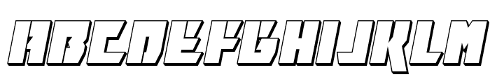 Furiosa 3D Italic Font LOWERCASE