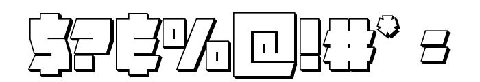Furiosa 3D Font OTHER CHARS