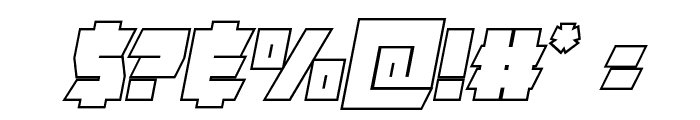 Furiosa Outline Italic Font OTHER CHARS