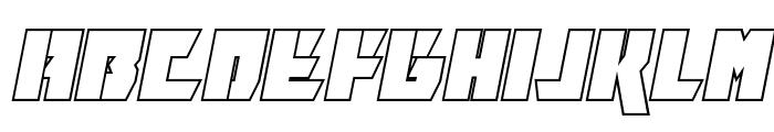 Furiosa Outline Italic Font LOWERCASE