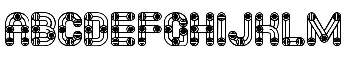 Furious Ride Linear Regular Font UPPERCASE
