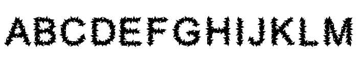 Furry Font LOWERCASE