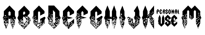 Fury Storm Personal Use Grunge Font UPPERCASE