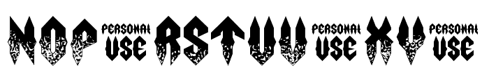 Fury Storm Personal Use Grunge Font LOWERCASE