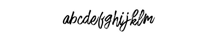 FusterdBrush-Regular Font LOWERCASE