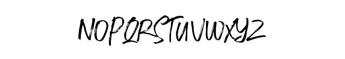 FusterdBrushTwo-Regular Font LOWERCASE