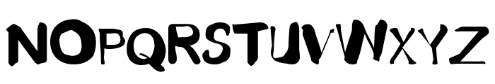 Fusty-Luggs Font UPPERCASE