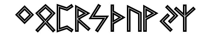 Futhark AOE Inline Font UPPERCASE