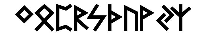 Futhark AOE Font UPPERCASE