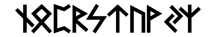 Futhark AOE Font LOWERCASE